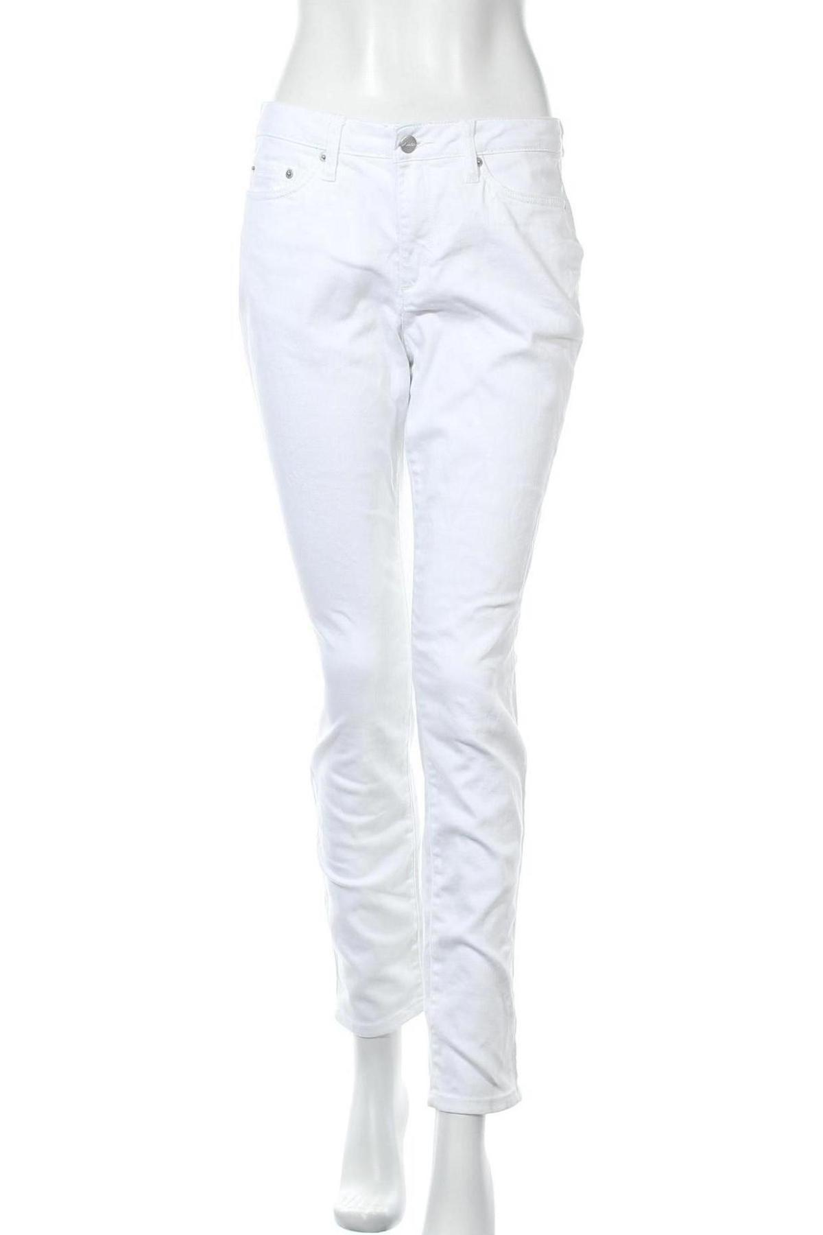 Дамски дънки Aniston, Размер M, Цвят Бял, 98% памук, 2% еластан, Цена 26,66лв.