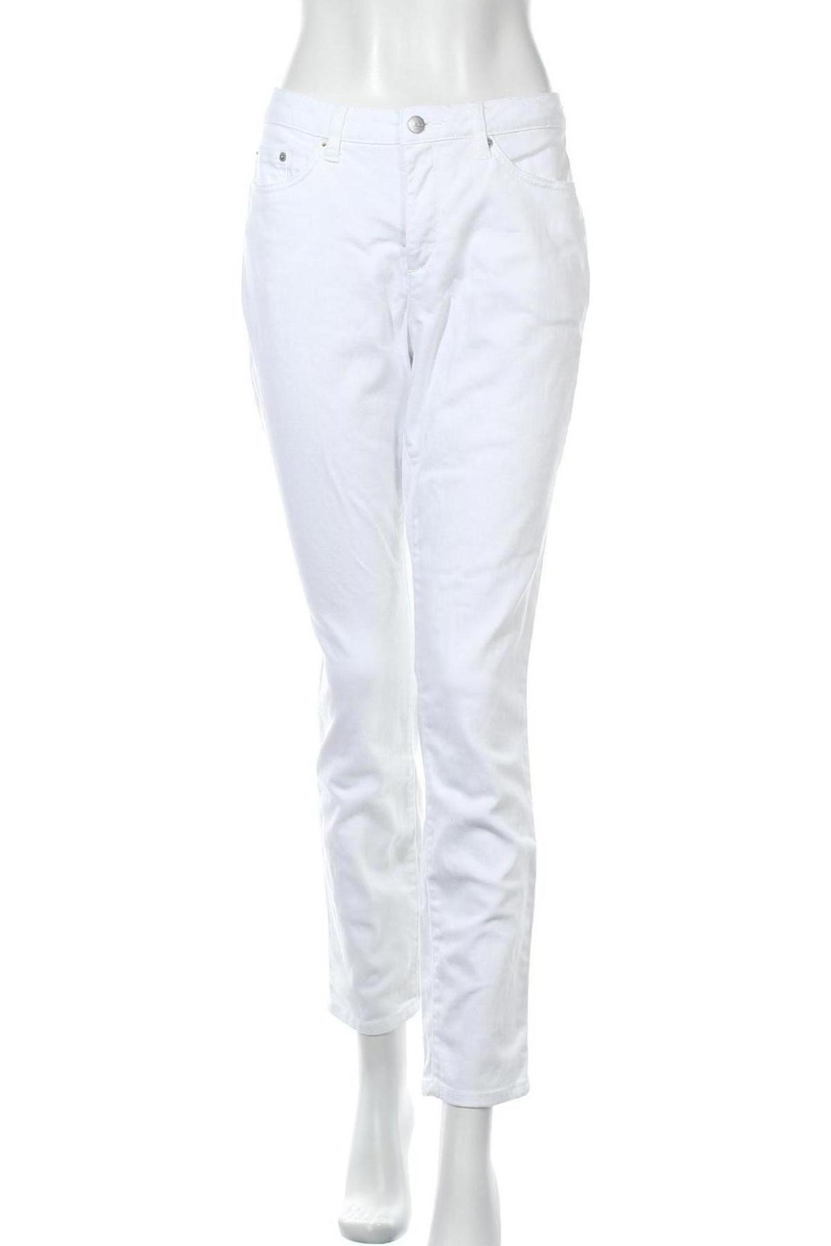 Дамски дънки Aniston, Размер L, Цвят Бял, 98% памук, 2% еластан, Цена 31,62лв.