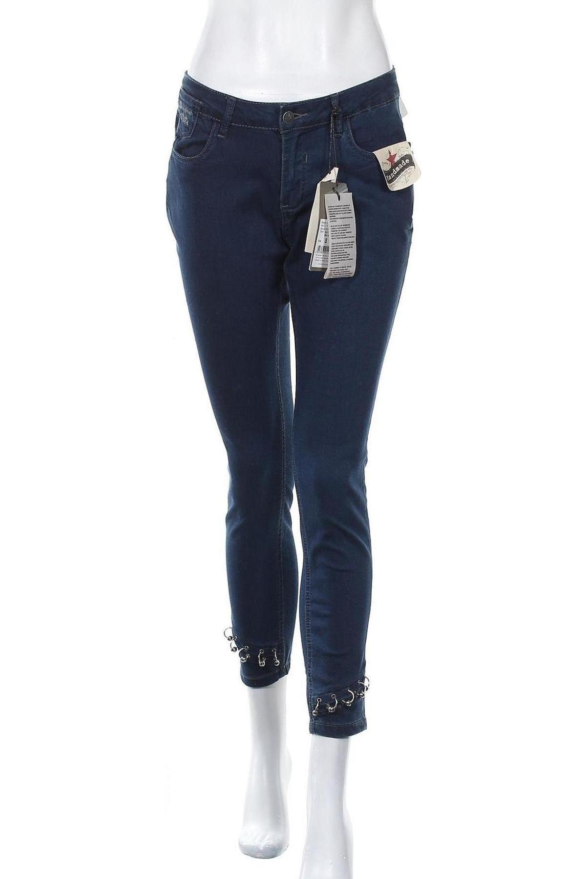 Дамски дънки Buena Vista, Размер S, Цвят Син, 70% памук, 27% полиестер, 3% еластан, Цена 18,17лв.