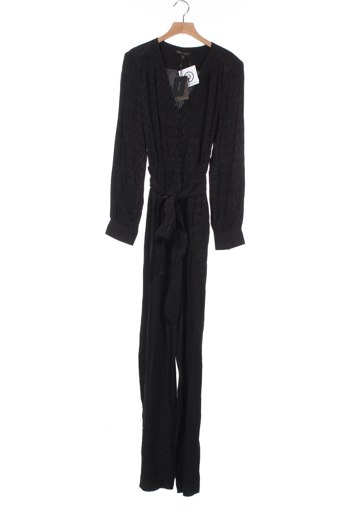 Γυναικεία σαλοπέτα Massimo Dutti, Μέγεθος XS, Χρώμα Μαύρο, 100% βισκόζη, Τιμή 19,97€