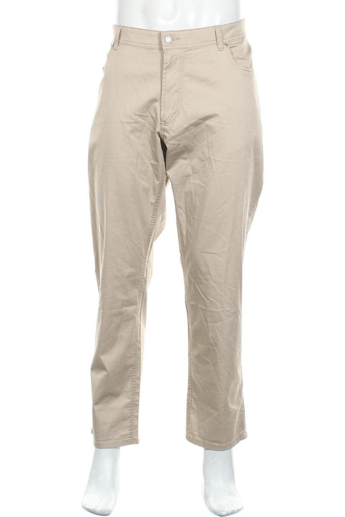 Мъжки панталон Christian Berg, Размер XL, Цвят Бежов, 98% памук, 2% еластан, Цена 51,75лв.