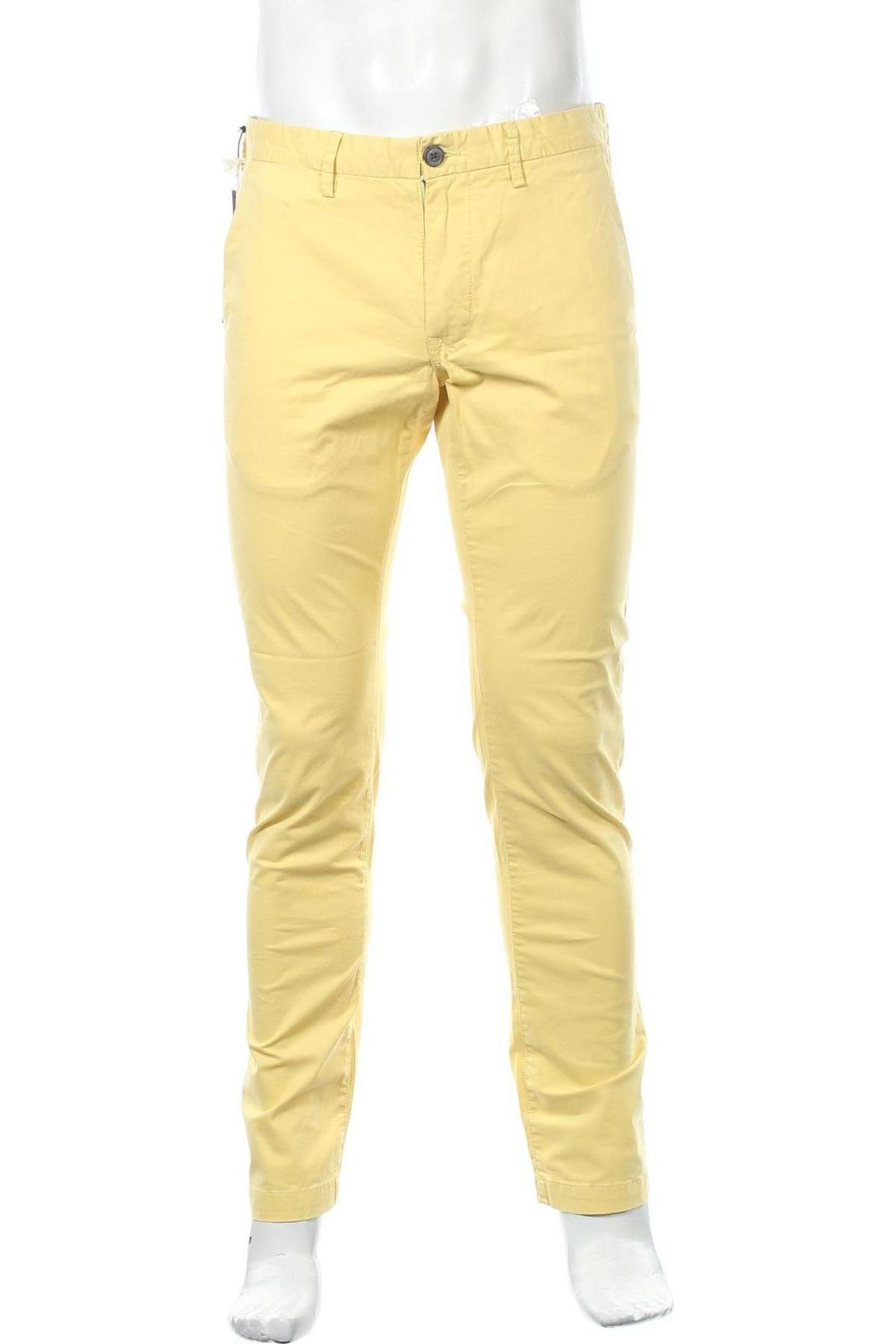 Мъжки панталон Teddy Smith, Размер M, Цвят Бежов, 97% памук, 3% еластан, Цена 66,75лв.