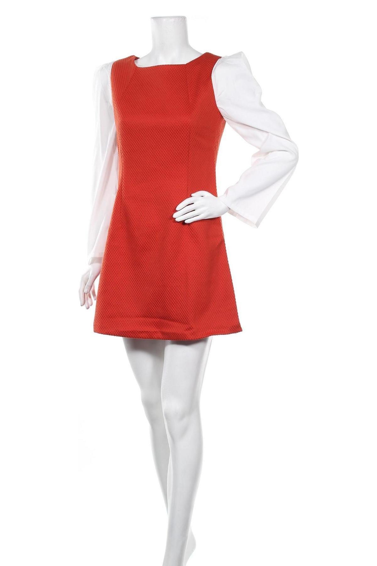 Рокля Kling, Размер S, Цвят Червен, 62% вискоза, 33% памук, 5% еластан, Цена 51,75лв.