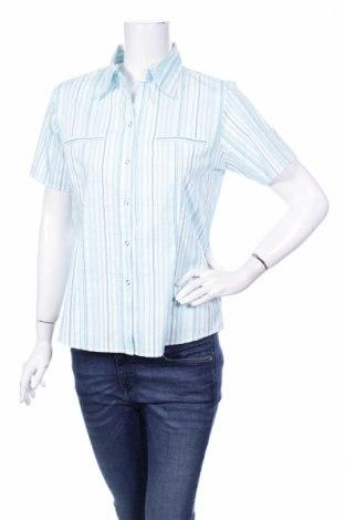 Γυναικείο πουκάμισο Biaggini, Μέγεθος M, Χρώμα Μπλέ, 47% βαμβάκι, 26% πολυαμίδη, 22% πολυεστέρας, 5% ελαστάνη, Τιμή 9,90€