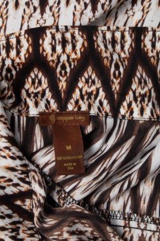 Γυναικείο πουκάμισο Copper Key, Μέγεθος M, Χρώμα Καφέ, 100% πολυεστέρας, Τιμή 9,28€