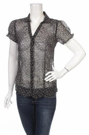 Дамска риза Gina, Размер M, Цвят Черен, 100% полиестер, Цена 3,75лв.