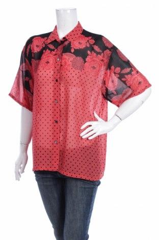 Γυναικείο πουκάμισο She, Μέγεθος M, Χρώμα Κόκκινο, 100% χαλκαμμωνία, Τιμή 9,90€