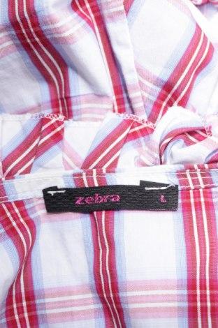 Γυναικείο πουκάμισο Zebra, Μέγεθος L, Χρώμα Πολύχρωμο, 67% βαμβάκι, 30% πολυαμίδη, 3% ελαστάνη, Τιμή 11,13€