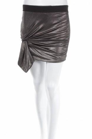 Пола H&M Conscious Collection, Размер XS, Цвят Сребрист, 95% полиестер, 5% еластан, Цена 4,64лв.