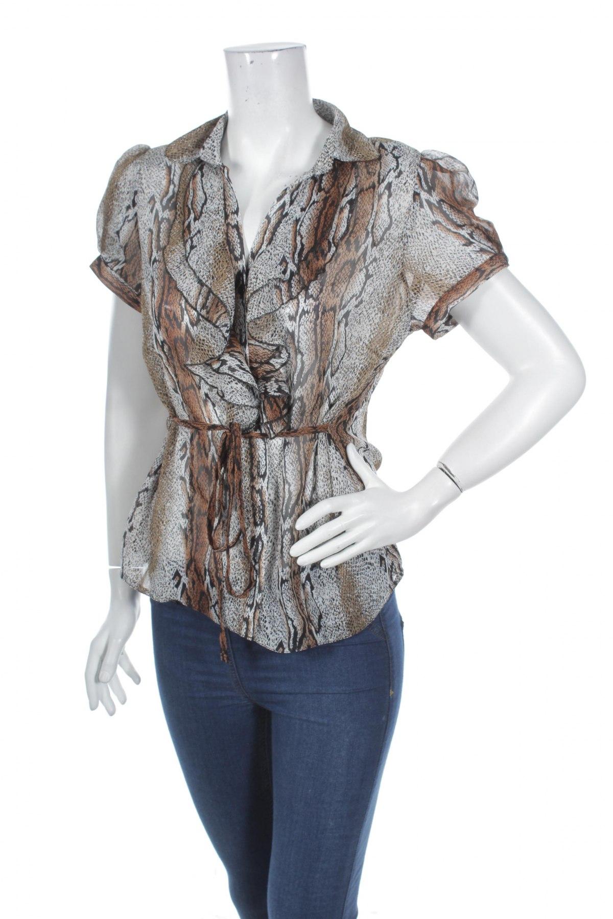 Γυναικείο πουκάμισο Marina Kaneva, Μέγεθος L, Χρώμα Πολύχρωμο, 100% πολυεστέρας, Τιμή 9,90€