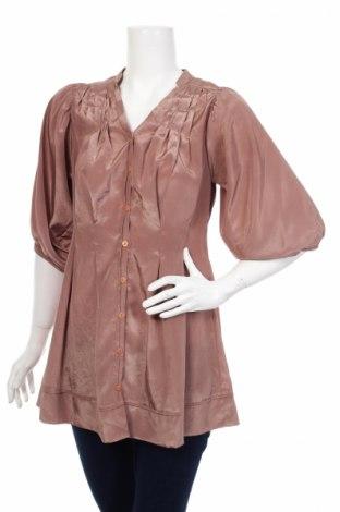 Γυναικείο πουκάμισο, Μέγεθος S, Χρώμα Καφέ, Τιμή 16,70€
