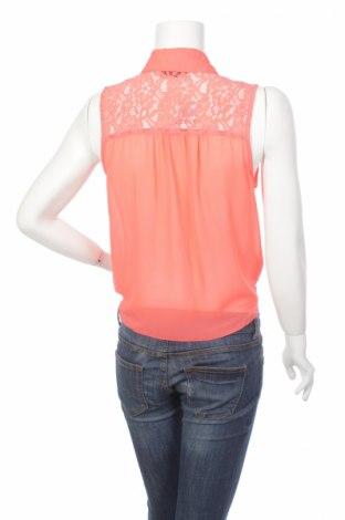 Γυναικείο πουκάμισο Free Fusion, Μέγεθος L, Χρώμα Πορτοκαλί, Πολυεστέρας, Τιμή 9,90€