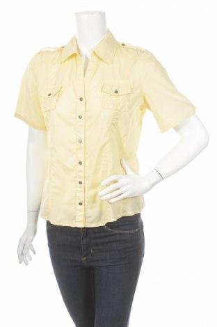 Γυναικείο πουκάμισο Q/S by S.Oliver, Μέγεθος M, Χρώμα Κίτρινο, 100% βαμβάκι, Τιμή 17,01€