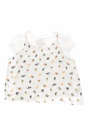 Детска блуза Here+There, Размер 10-11y/ 146-152 см, Цвят Бял, 96% вискоза, 4% еластан, Цена 3,12лв.