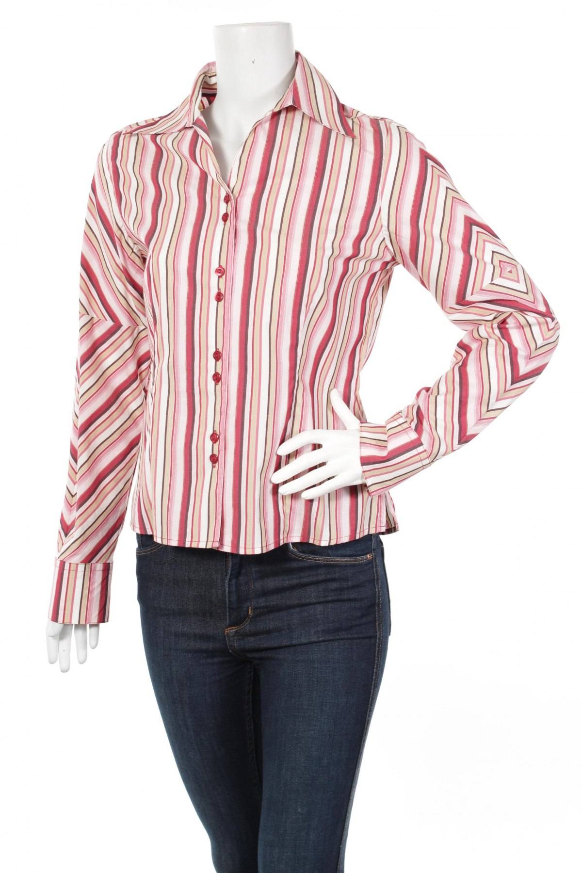 Γυναικείο πουκάμισο One Touch, Μέγεθος S, Χρώμα Πολύχρωμο, 68% βαμβάκι, 29% πολυαμίδη, 3% ελαστάνη, Τιμή 18,56€