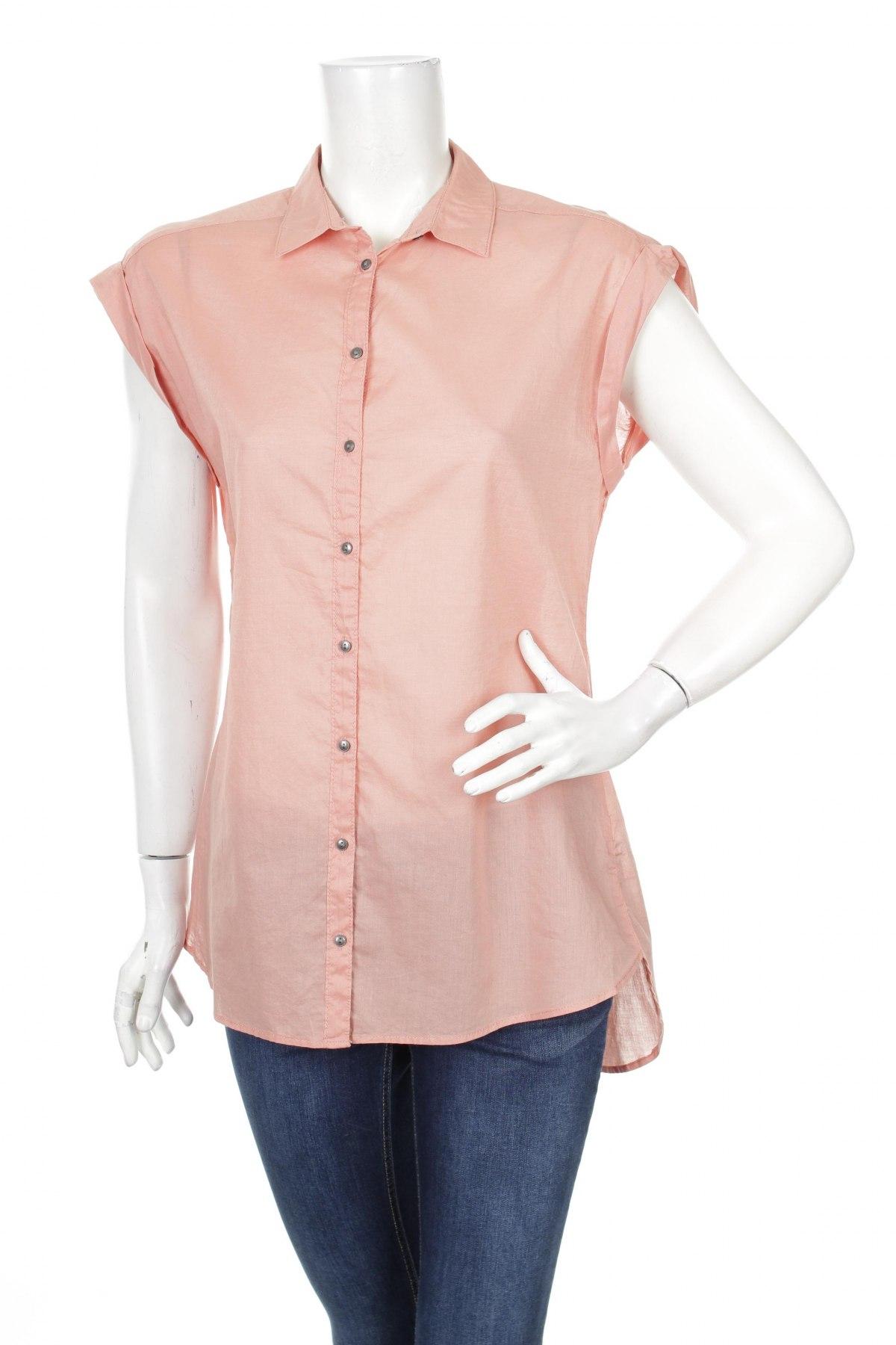 Γυναικείο πουκάμισο Yessica, Μέγεθος M, Χρώμα Ρόζ , Βαμβάκι, Τιμή 3,16€