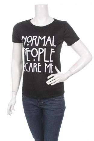 Дамска тениска, Размер S, Цвят Черен, 65% памук, 35% полиестер, Цена 13,20лв.
