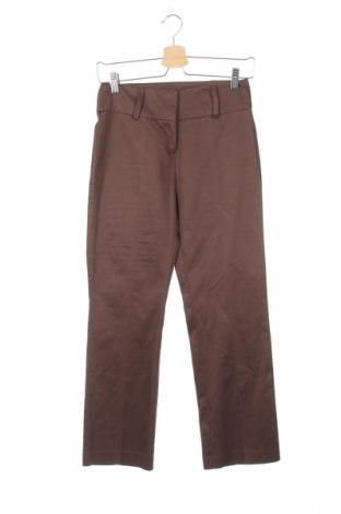 Дамски панталон Shesan, Размер XS, Цвят Кафяв, 97% памук, 3% еластан, Цена 7,40лв.