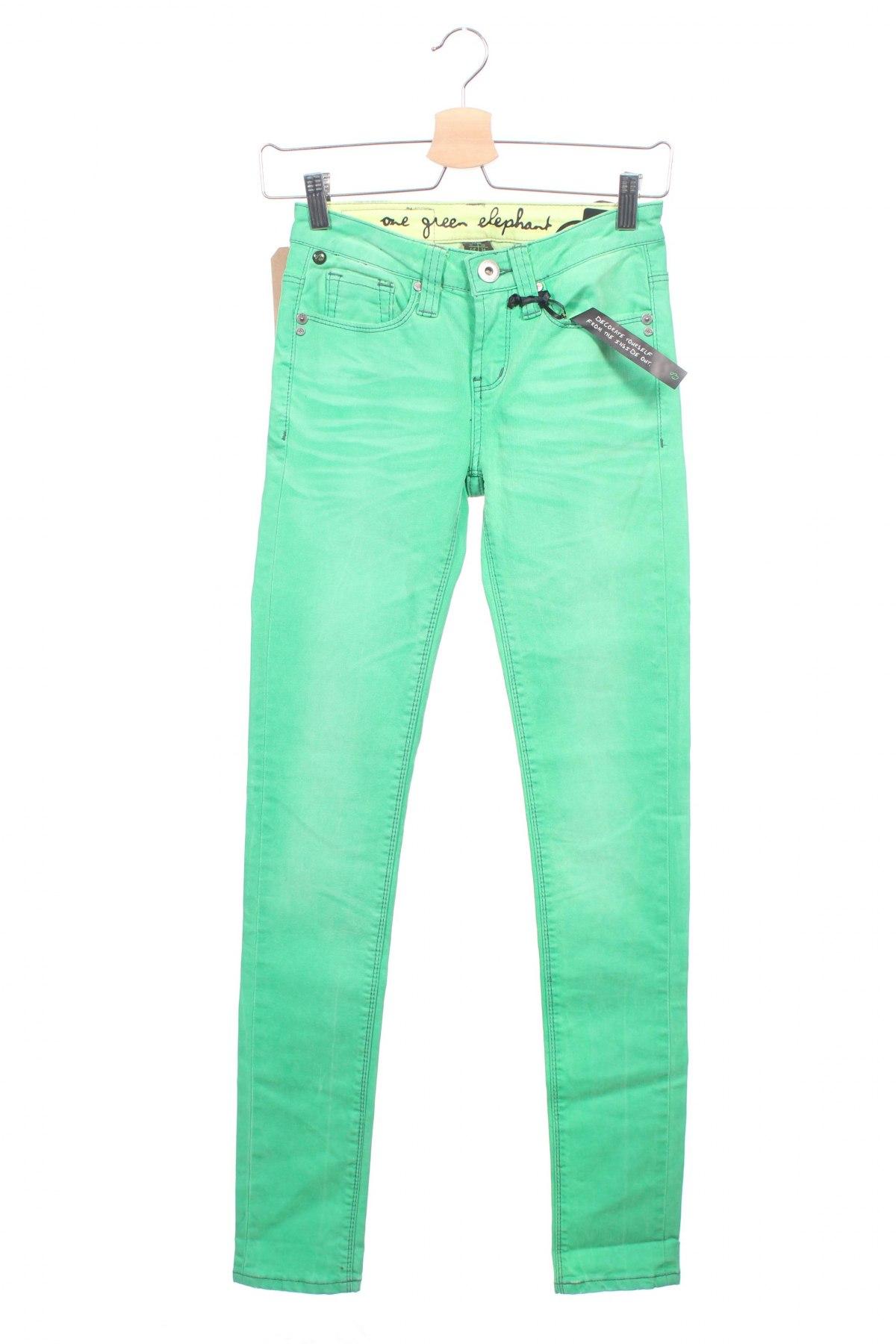 ##### OGE One Green Elephant Kosai Damenjeans Second Skin Hellgrün Neu #####