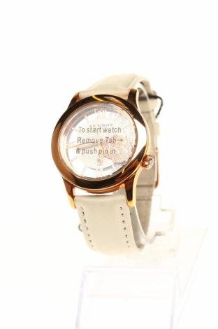 Zegarek Akribos XXIV, Kolor Biały, Skóra naturalna, metal, Cena 349,55zł