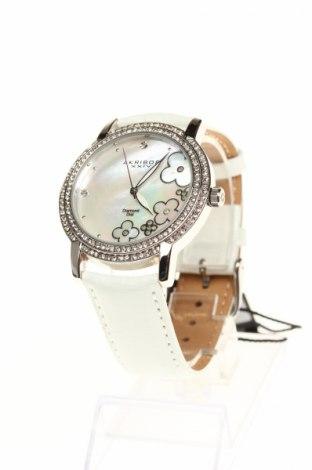 Часовник Akribos XXIV, Цвят Бял, Естествена кожа, метал, Цена 224,75лв.