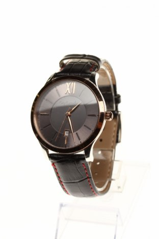 Часовник Guy Laroche, Цвят Черен, Естествена кожа, метал, Цена 80,70лв.