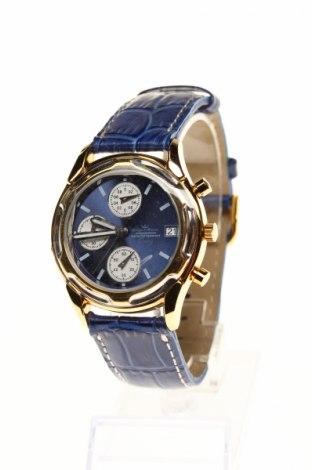 Ceas Yonger & Bresson, Culoare Albastru, Piele naturală, metal, Preț 236,19 Lei