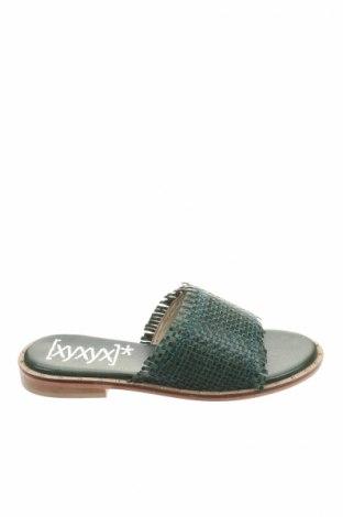 Japonki Xyxyx, Rozmiar 38, Kolor Zielony, Skóra naturalna, Cena 73,93zł