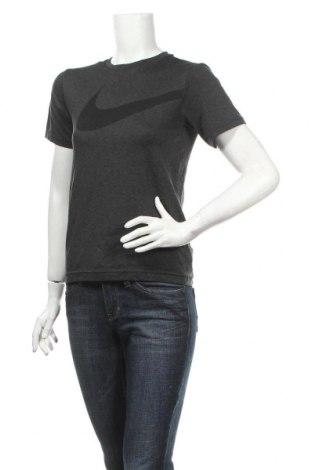 Дамска тениска Nike, Размер L, Цвят Сив, Полиестер, Цена 14,40лв.
