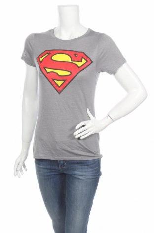 Дамска тениска Superman, Размер M, Цвят Сив, 50% полиестер, 50% вискоза, Цена 12,00лв.