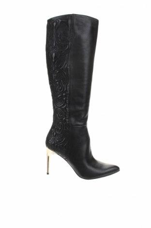 Γυναικείες μπότες BCBG Max Azria, Μέγεθος 37, Χρώμα Μαύρο, Γνήσιο δέρμα, Τιμή 232,08€
