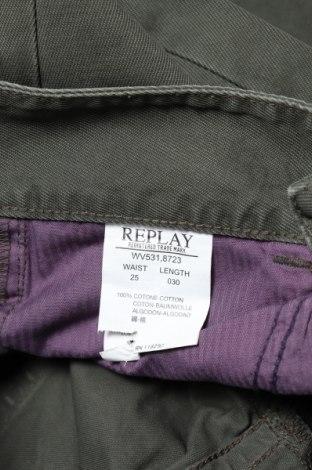 Дамски дънки Replay, Размер XS, Цвят Зелен, 100% памук, Цена 19,24лв.