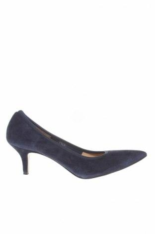 Încălțăminte de damă Accessoire Diffusion, Mărime 38, Culoare Albastru, Velur natural, Preț 209,87 Lei