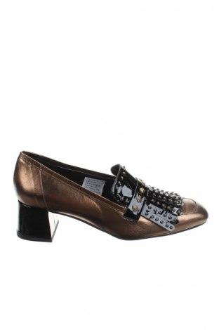 Дамски обувки Heine, Размер 39, Цвят Златист, Естествена кожа, Цена 30,80лв.