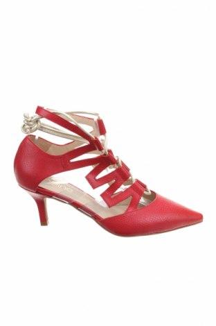 Γυναικεία παπούτσια Heine, Μέγεθος 36, Χρώμα Κόκκινο, Γνήσιο δέρμα, Τιμή 15,34€