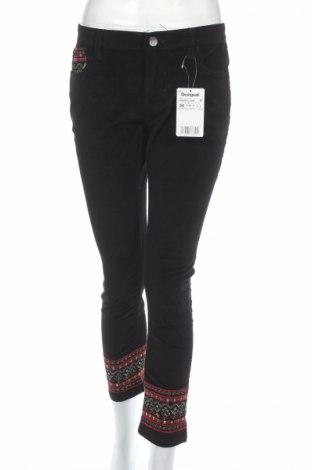 Γυναικείο παντελόνι Desigual, Μέγεθος M, Χρώμα Μαύρο, 98% βαμβάκι, 2% ελαστάνη, Τιμή 19,95€