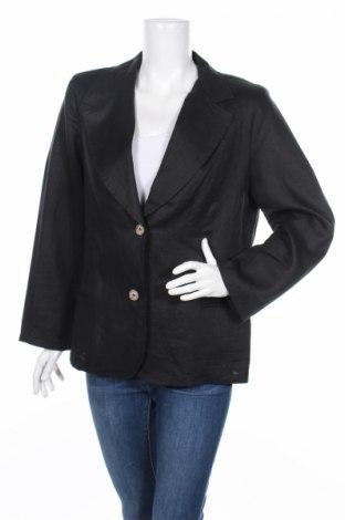 Дамско сако, Размер XXL, Цвят Черен, Лен, Цена 13,50лв.
