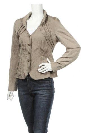 Γυναικείο σακάκι Apriori, Μέγεθος M, Χρώμα  Μπέζ, 50% πολυαμίδη, 30% πολυεστέρας, 13% βαμβάκι, 7% μεταλλικά νήματα, Τιμή 2,97€