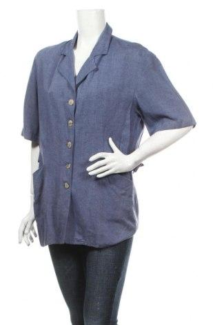 Дамско сако Asphalt, Размер L, Цвят Син, 70% вискоза, 30% лен, Цена 6,00лв.