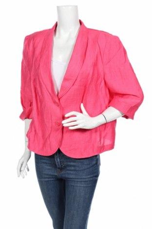 Дамско сако Gerry Weber, Размер XL, Цвят Розов, 50% лен, 38% вискоза, 12% полиамид, Цена 11,50лв.