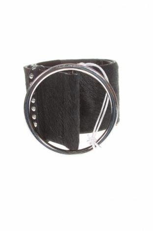 Колан Guess, Цвят Черен, Естествен косъм, естествен велур, Цена 31,15лв.