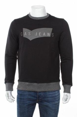 Мъжка блуза Gas, Размер M, Цвят Черен, 95% памук, 5% еластан, Цена 34,65лв.
