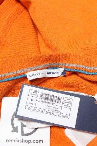 Мъжка жилетка Gas, Размер M, Цвят Оранжев, 67% памук, 25% полиестер, 8% кашмир, Цена 38,70лв.
