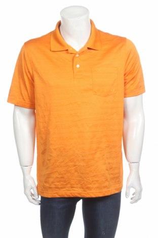 Ανδρικό t-shirt Croft & Barrow, Μέγεθος L, Χρώμα Πορτοκαλί, Πολυεστέρας, Τιμή 2,32€