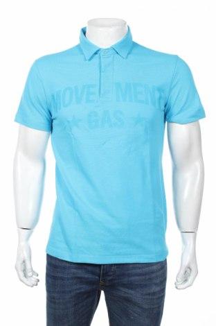 Męski T-shirt Gas, Rozmiar L, Kolor Niebieski, Bawełna, Cena 54,89zł