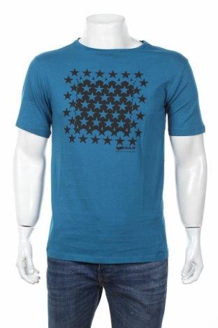 Męski T-shirt Gas, Rozmiar L, Kolor Niebieski, 100% bawełna, Cena 62,73zł