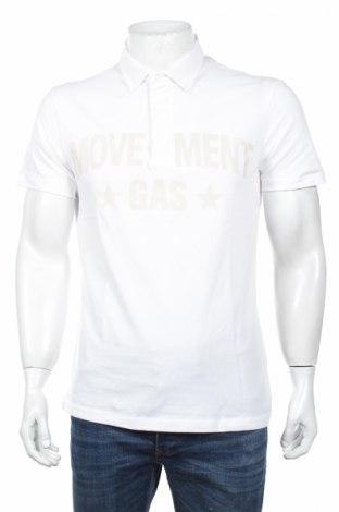 Męski T-shirt Gas, Rozmiar L, Kolor Biały, 95% bawełna, 5% elastyna, Cena 62,73zł