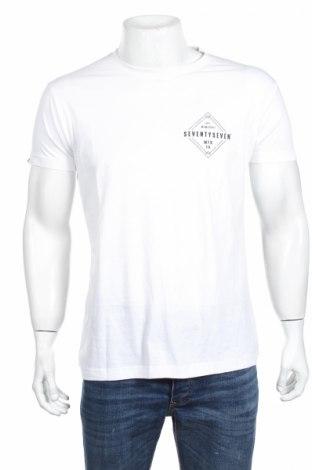 Мъжка тениска Seventy Seven, Размер L, Цвят Бял, 100% памук, Цена 19,80лв.