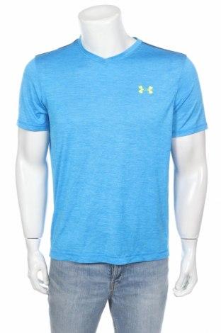 Мъжка тениска Under Armour, Размер M, Цвят Син, Полиестер, Цена 16,80лв.