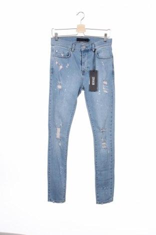 Męskie jeansy Mennace, Rozmiar S, Kolor Niebieski, 98% bawełna, 2% elastyna, Cena 57,50zł